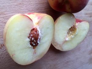 Tropic Snow Peach sliced